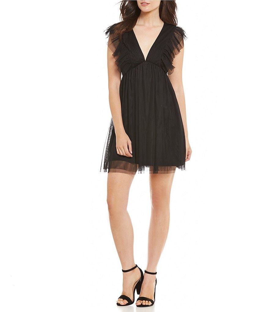 Love & Piece Ruffle Detail Mesh Dress