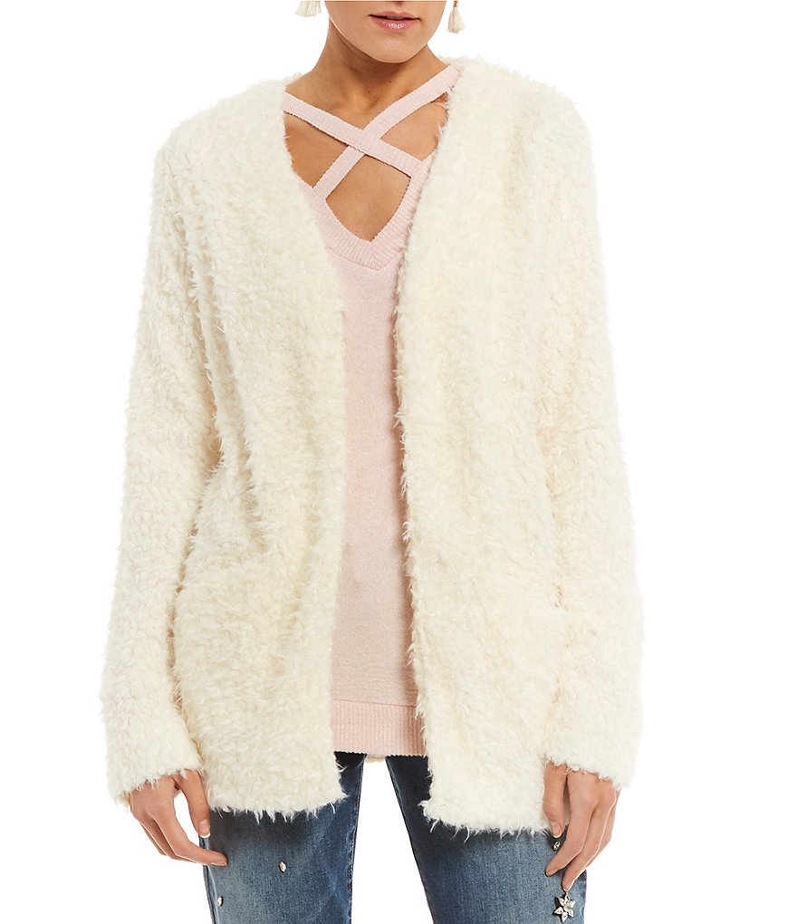 Love on a Hanger Faux-Fur Cozy Cardigan