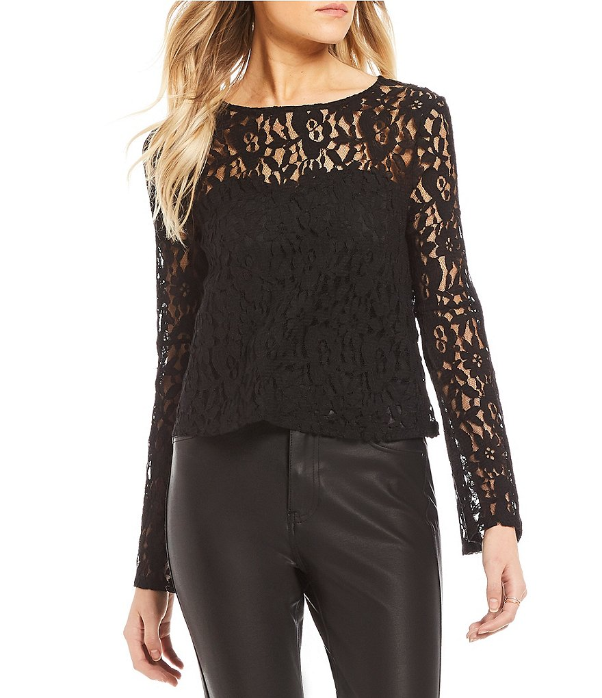 Love on a Hanger Lace Bell Sleeve Top