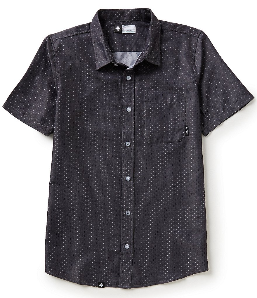 LRG RC Dot Chambray Short-Sleeve Sportshirt