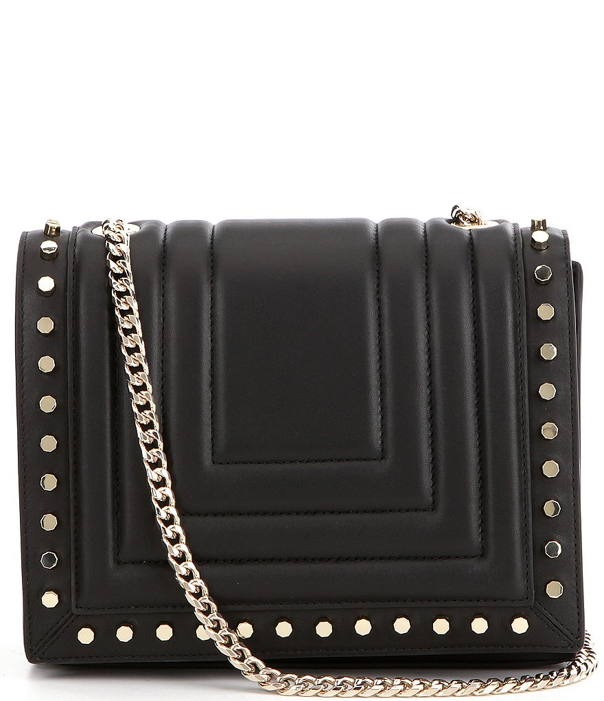 Luana Italy Clio Studded-Flap Cross-Body Bag