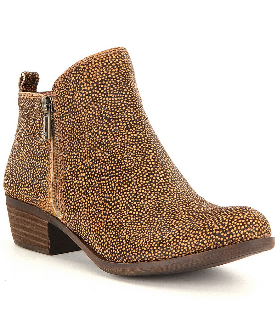 Lucky Brand Basel 2 Calf Hair Side Zip Booties