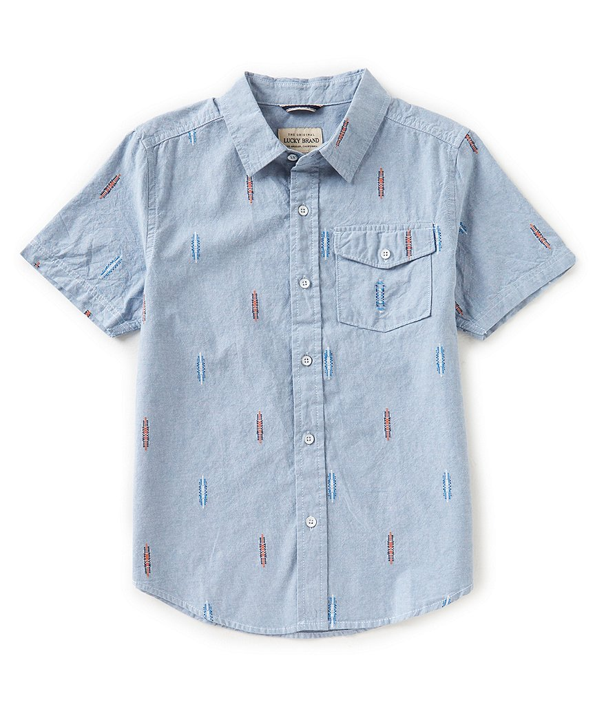 Lucky Brand Big Boys 8-20 Button-Down Chambray Shirt