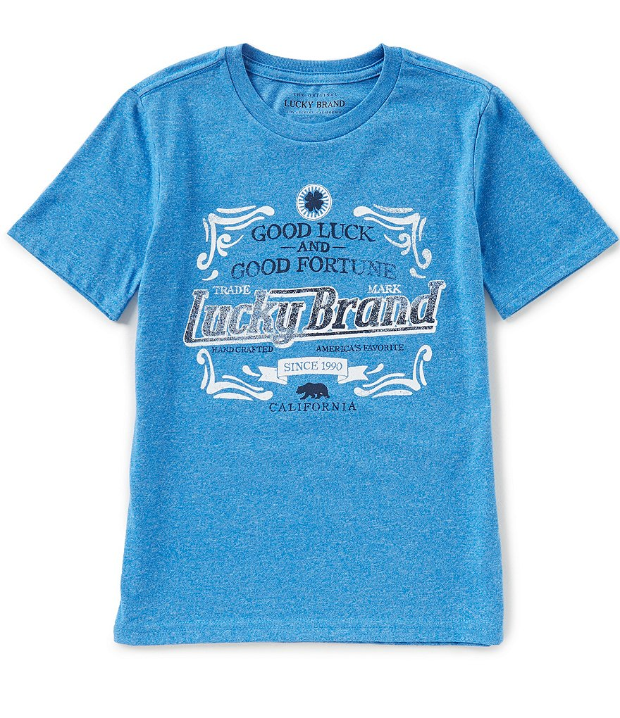 Lucky Brand Big Boys 8-20 Fortunate Short-Sleeve Graphic Tee