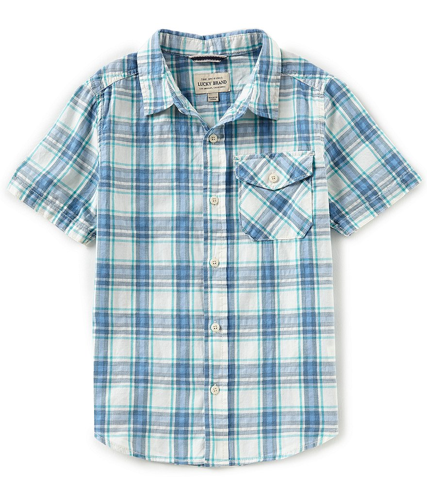 Lucky Brand Big Boys 8-20 Plaid Poplin Shirt