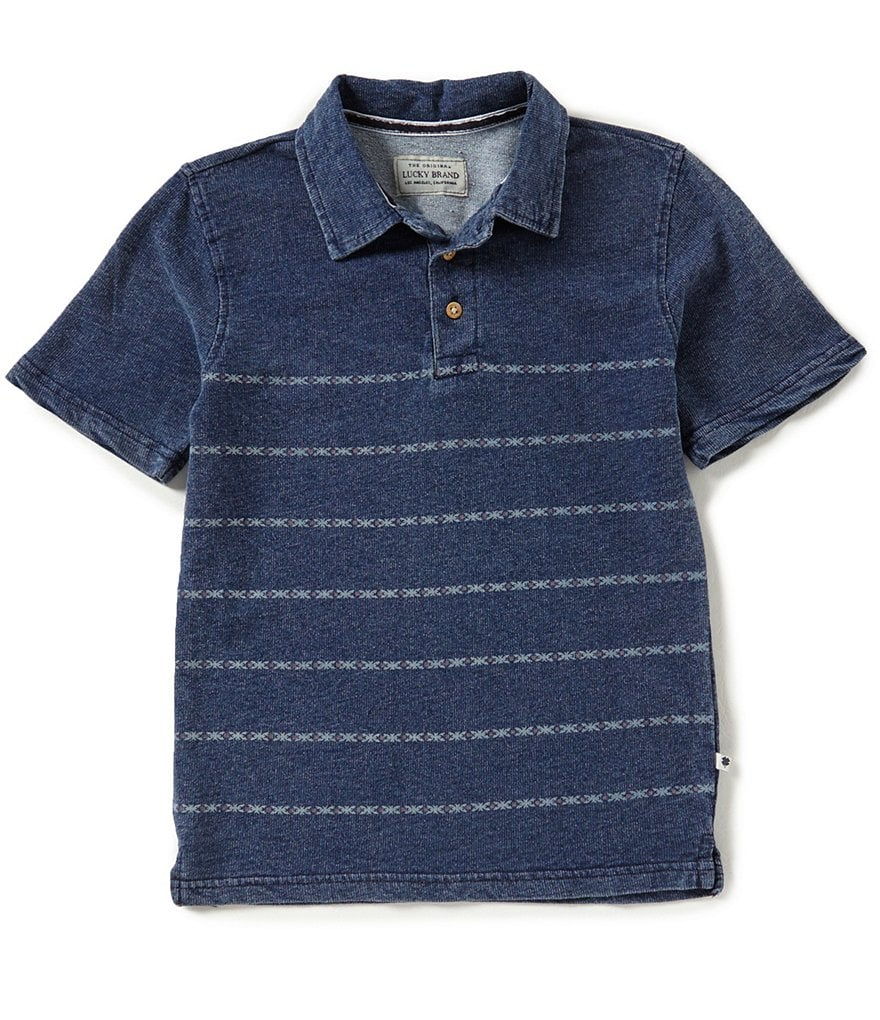 Lucky Brand Big Boys 8-20 Striped Short-Sleeve Polo Shirt