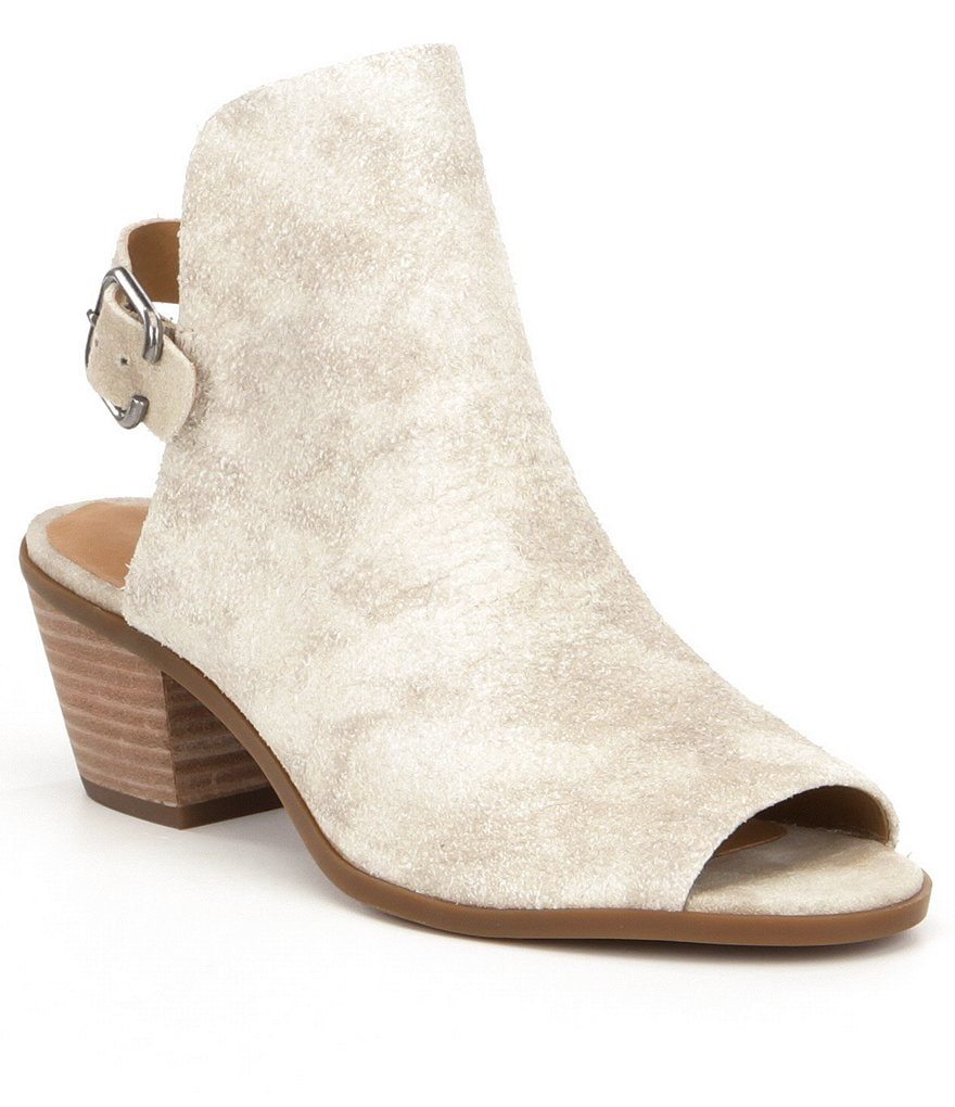 Lucky Brand Bray Peep Toe Block Heel Shooties