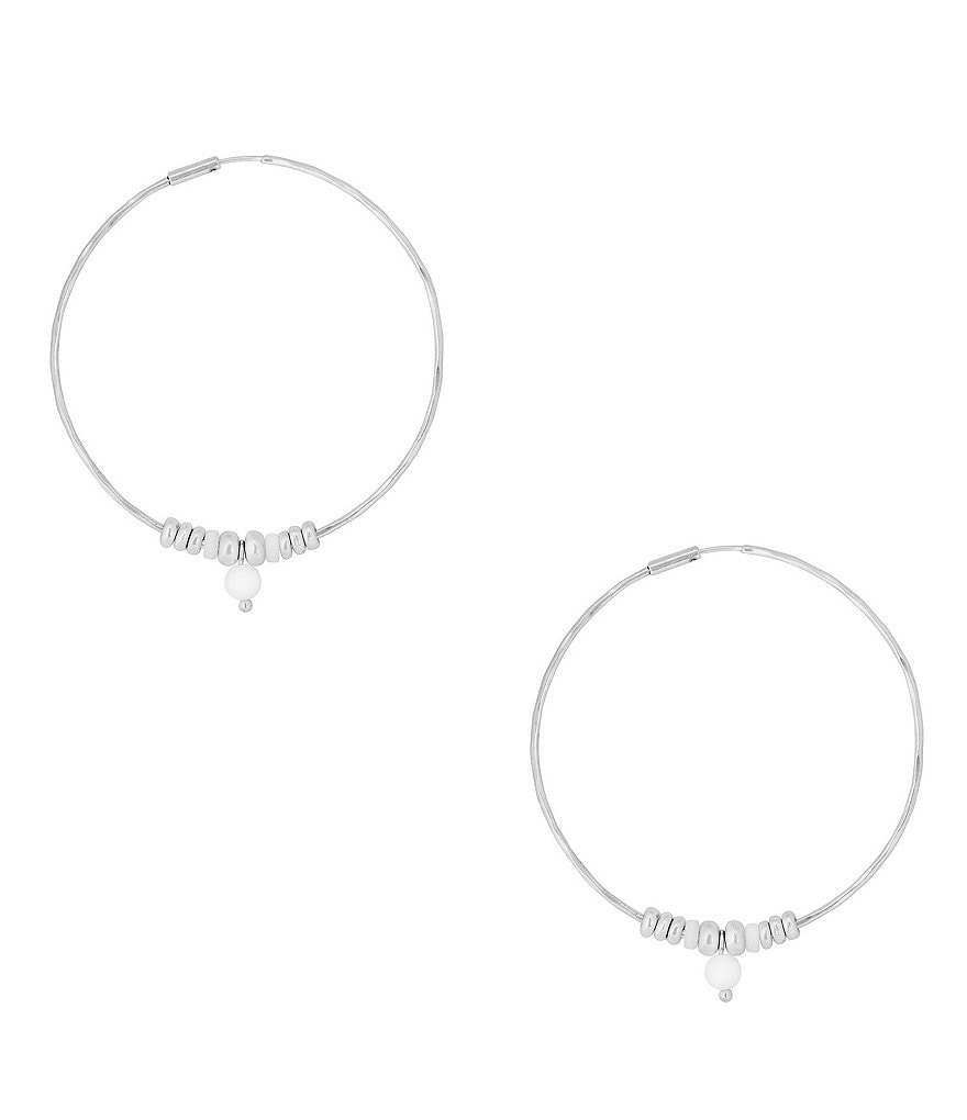 Lucky Brand Drop Hoop Earrings