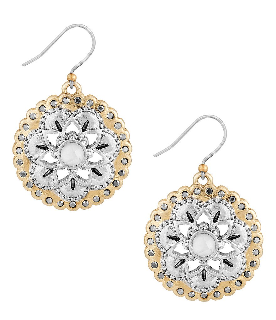 Lucky Brand Floral Drop Earrings
