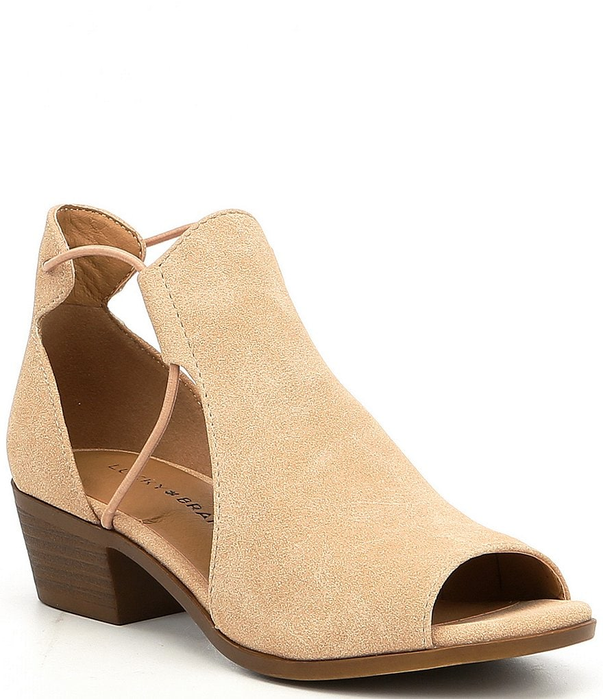 Lucky Brand Girls' Berrete Block Heel Peep-Toe Shooties