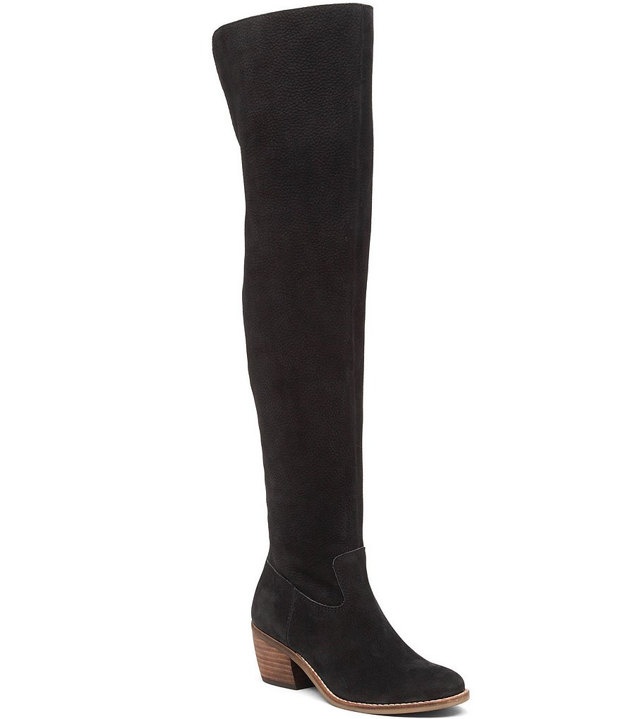 Lucky Brand Khlonn Nubuck Shearling Lined Over the Knee Boots