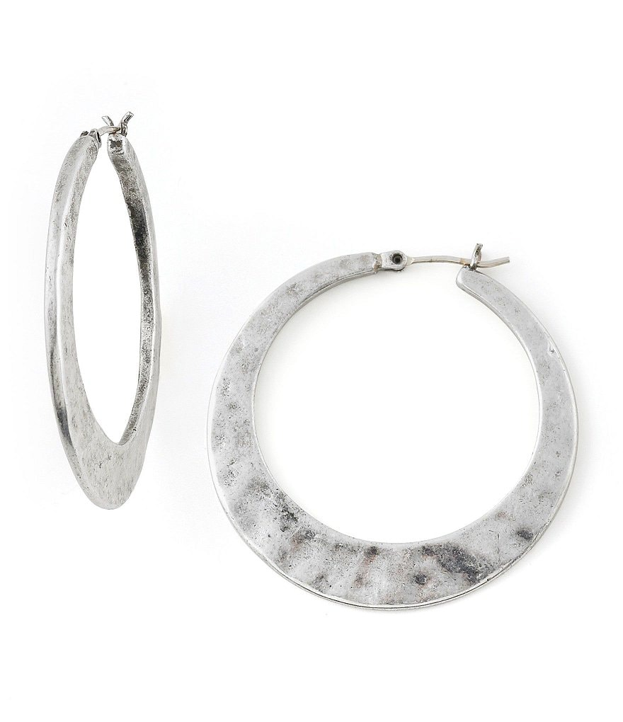 Lucky Brand Large Twisted Hoop Earrings