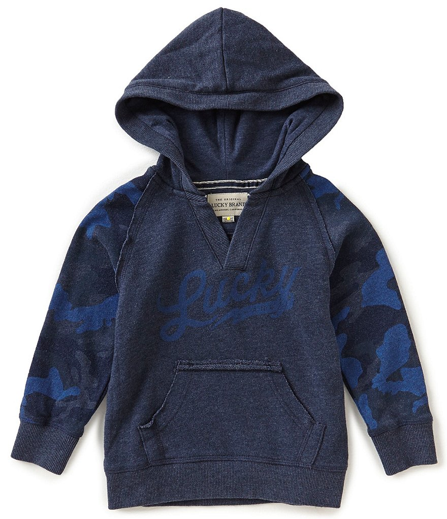 Lucky Brand Little Boys 2T-4T Solid/Camouflage Long-Sleeve Hoodie