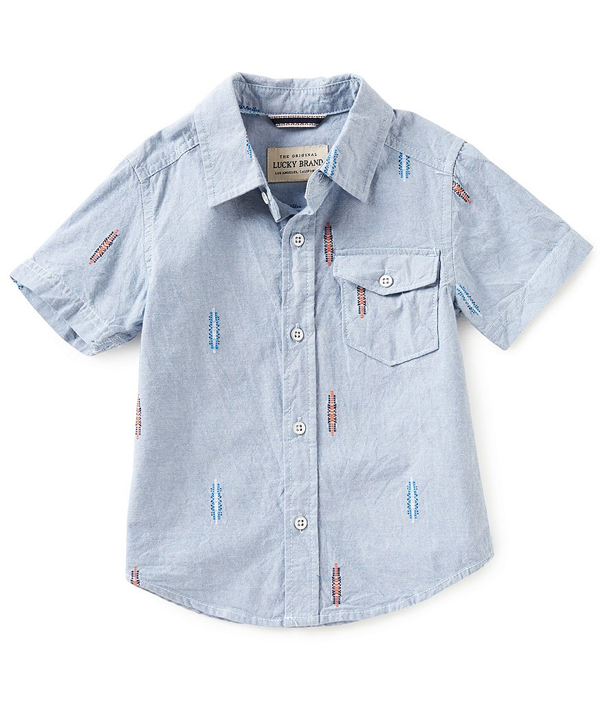 Lucky Brand Little Boys 2T-7 Button-Down Chambray Shirt