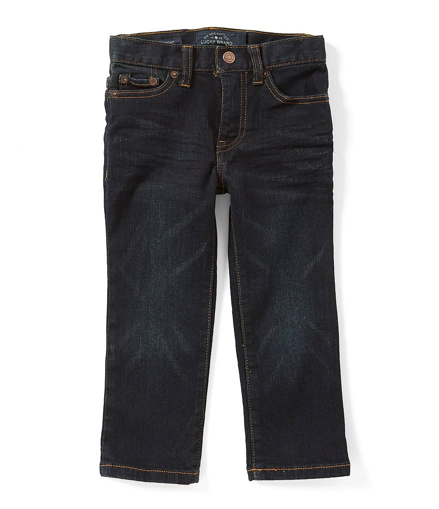 Lucky Brand Little Boys 2T-7 Five-Pocket Dark Wash Jeans