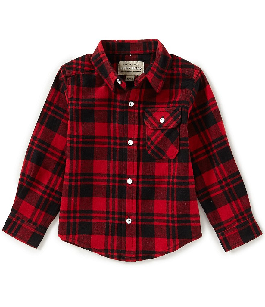 Lucky Brand Little Boys 2T-7 Long-Sleeve Plaid Shirt