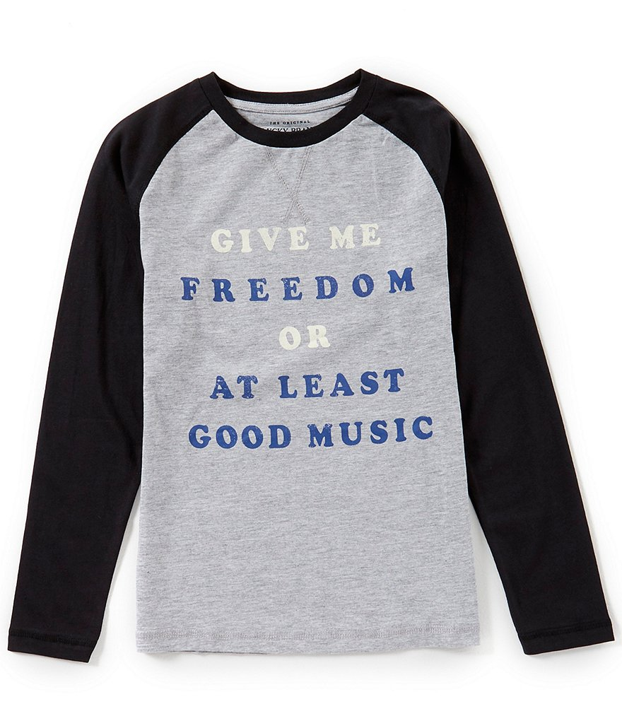 Lucky Brand Little Boys 4-7 Raglan-Sleeve Good Music Graphic Tee