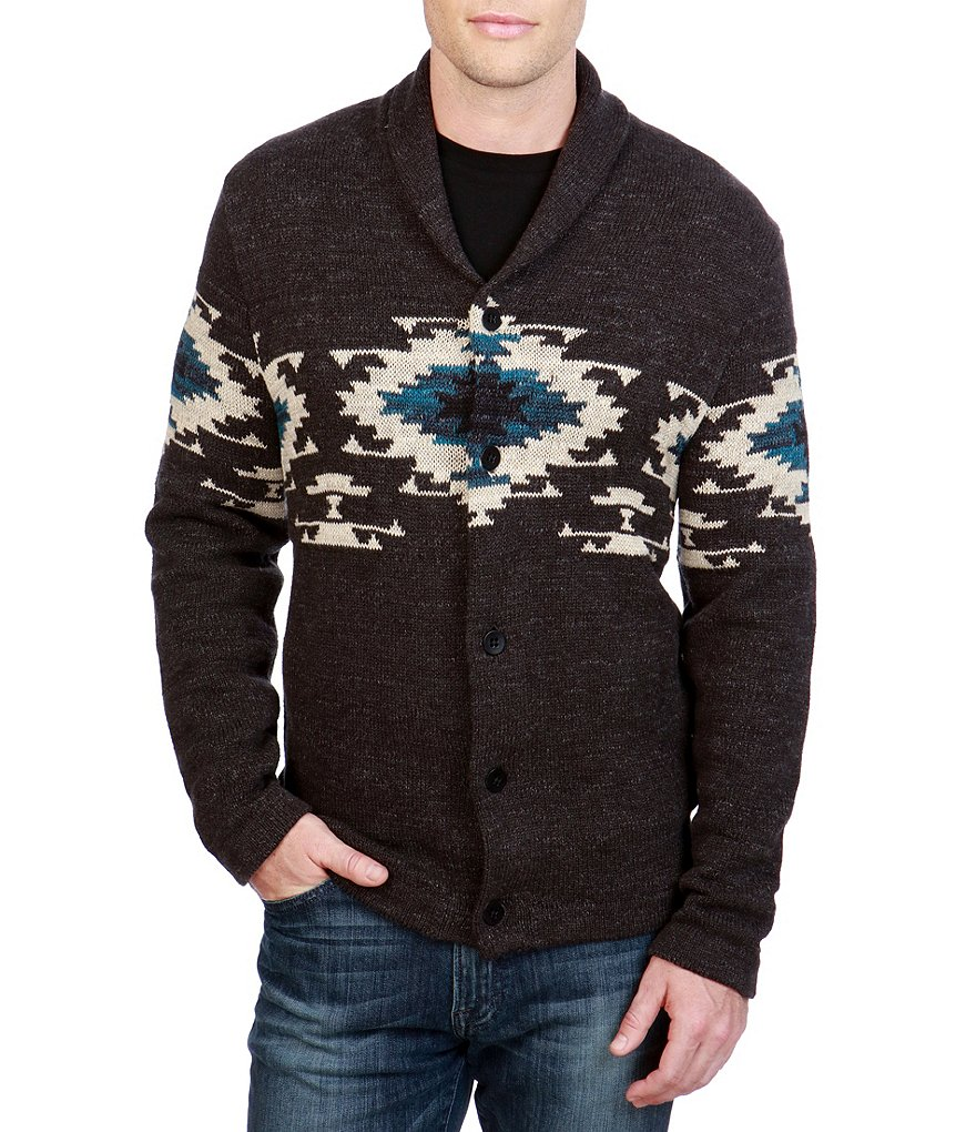 Lucky Brand Navajo Shawl Cardigan Sweater