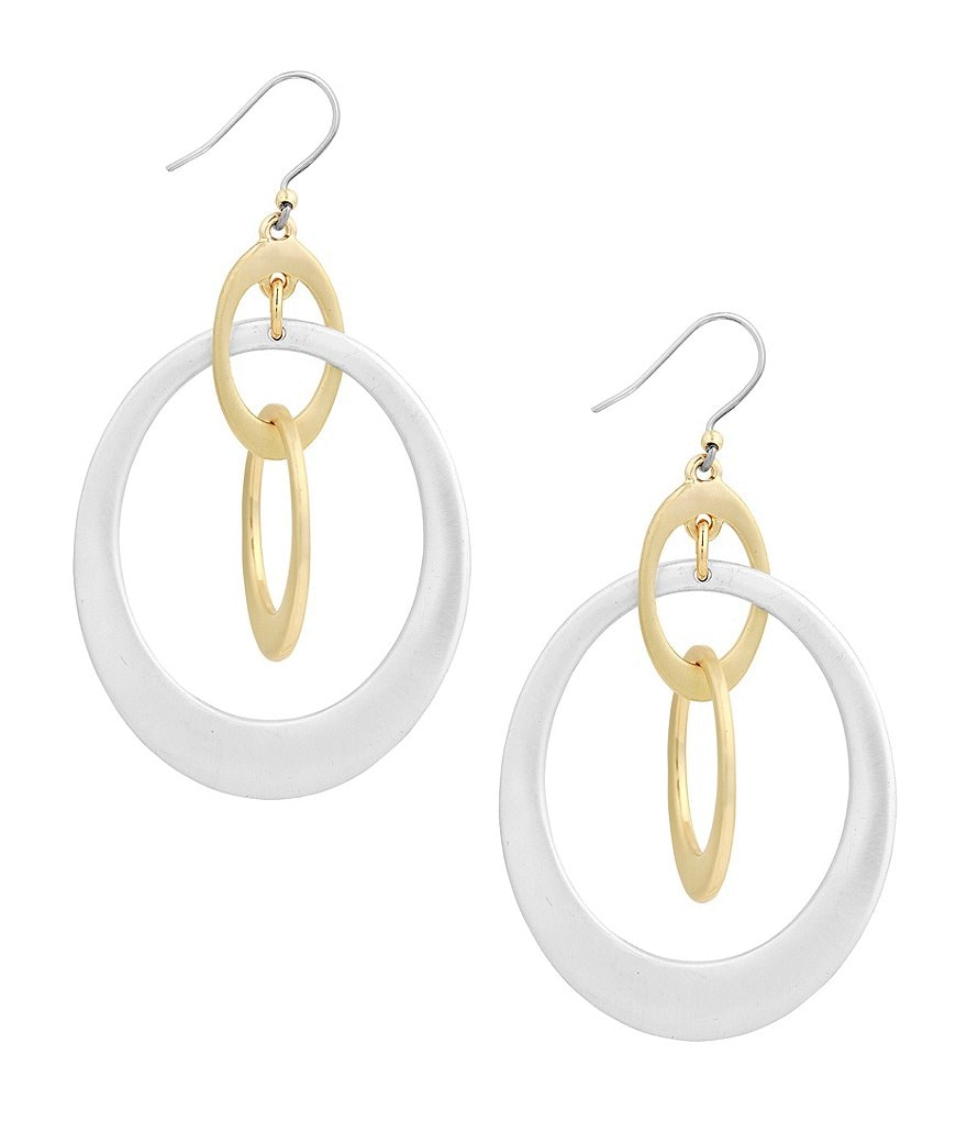 Lucky Brand Orbital Drop Earrings