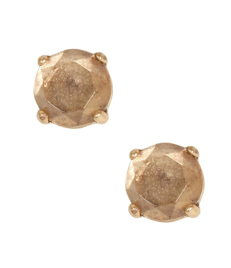 Lucky Brand Rock Crystal Stud Earrings