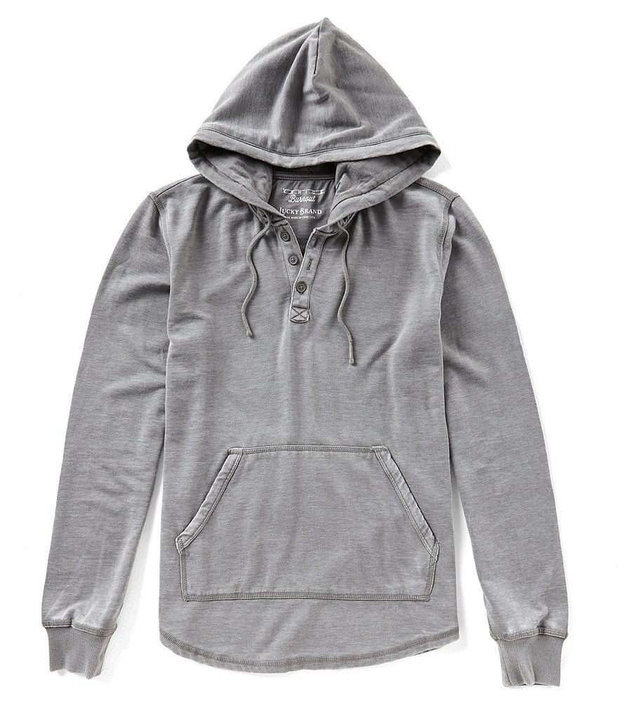 Lucky Brand Shasta Burnout Long-Sleeve Hoodie