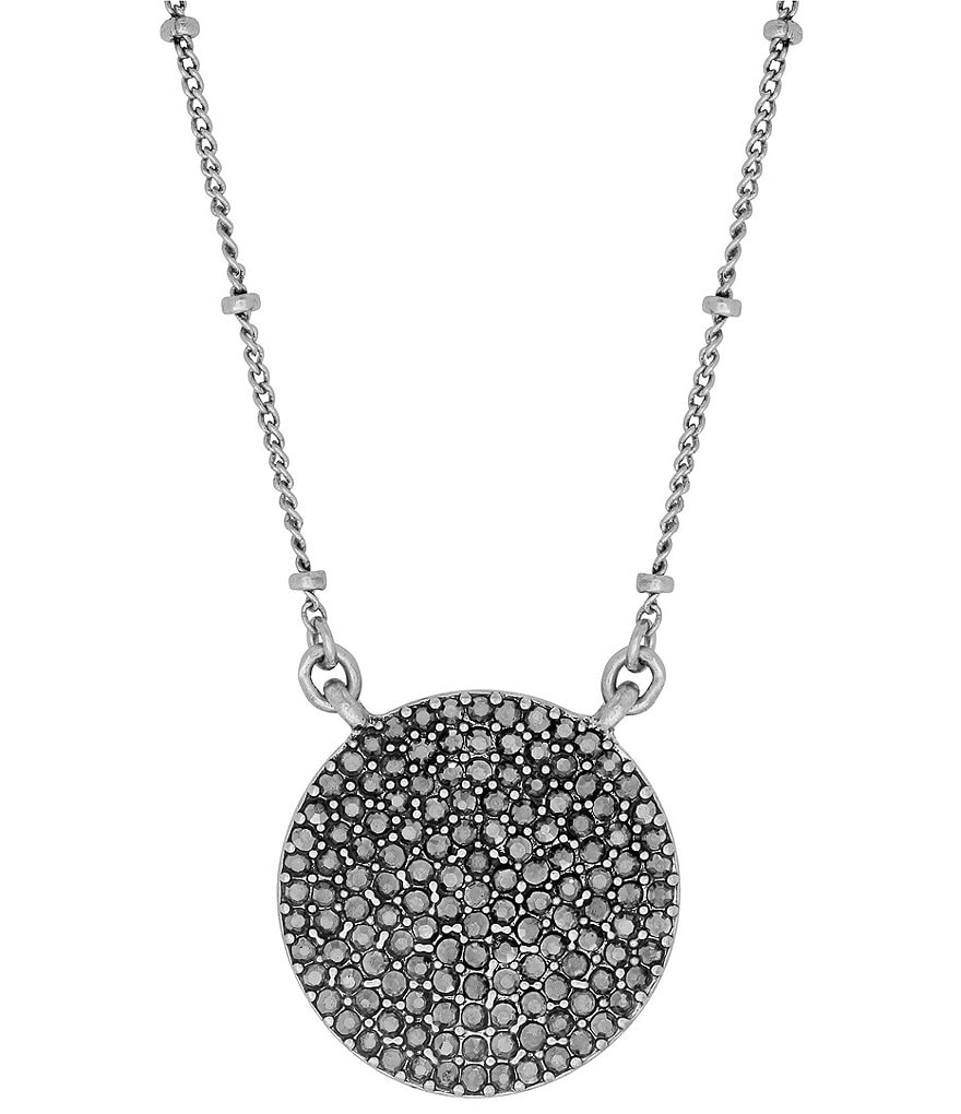 Lucky Brand Pavé Rock Crystal Pendant Necklace
