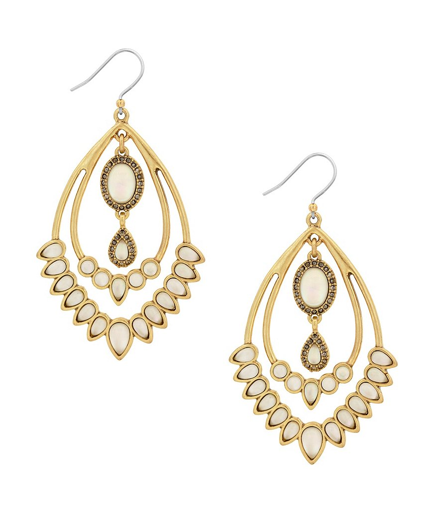 Lucky Brand Orbital Drop Statement Earrings