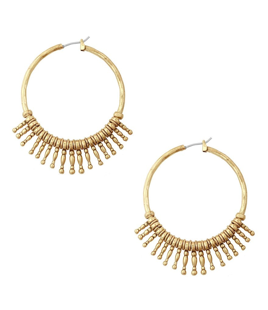 Lucky Brand Sunburst Hoop Earrings