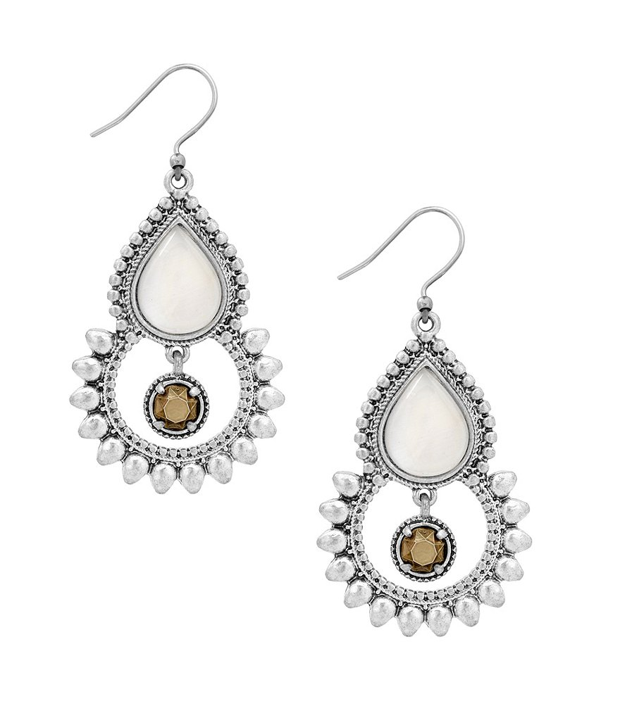Lucky Brand Tribal Drop Statement Earrings