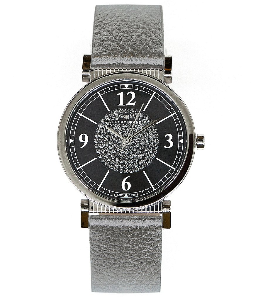 Lucky Carmel Metallic Leather Watch