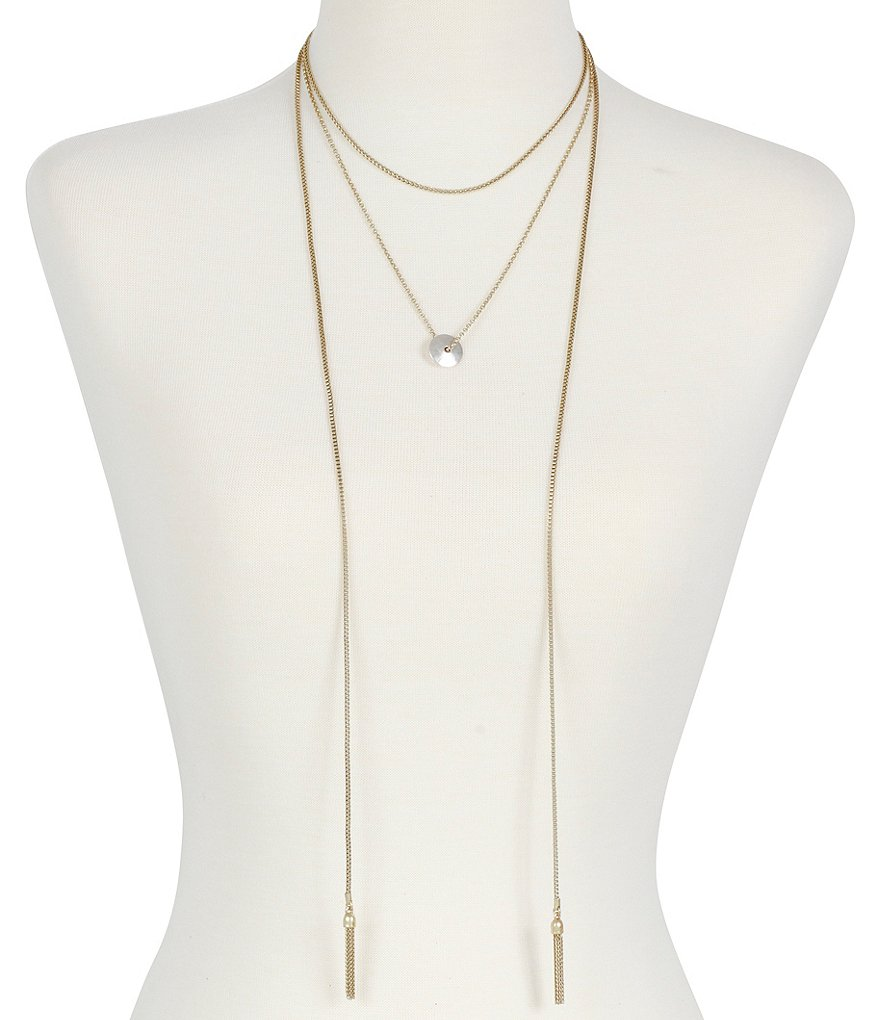 Lucky Layered Lariat Necklace