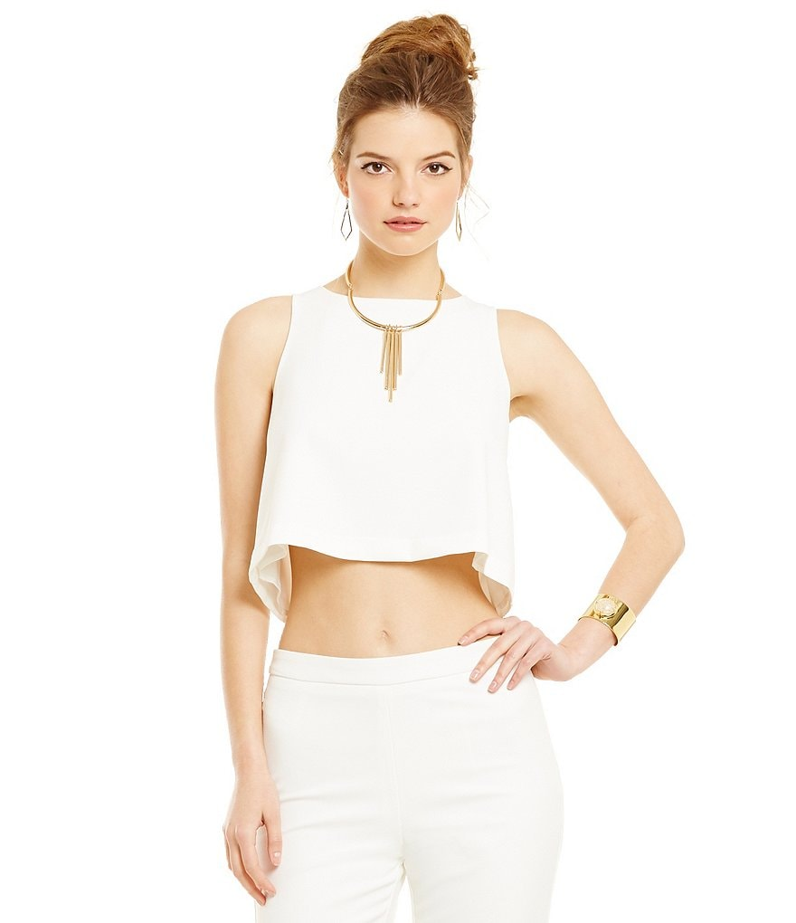 Lucy Paris Shell Cropped Tank