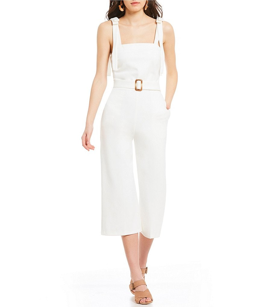 Lucy Paris Shoulder Tie Jumpsuit