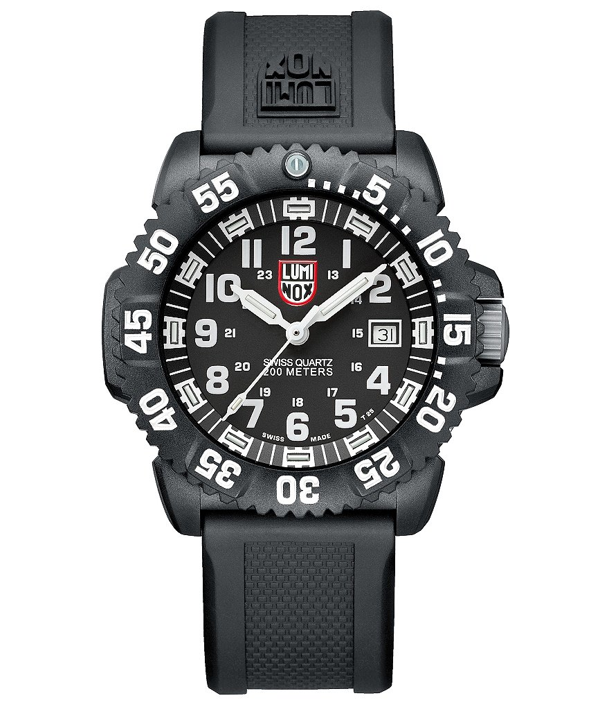 Luminox Navy SEAL ColorMark Constant Glow 3 Hand Rubber Strap Watch