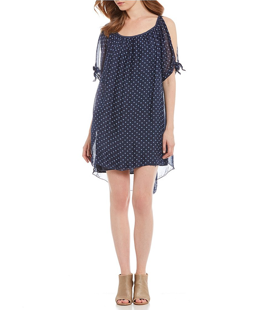M Made in Italy Tie-Sleeve Dress