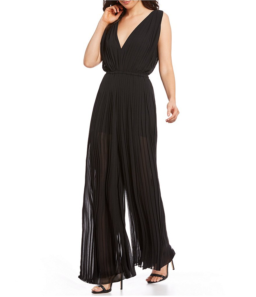 M.S.S.P. Pleated Georgette Jumpsuit