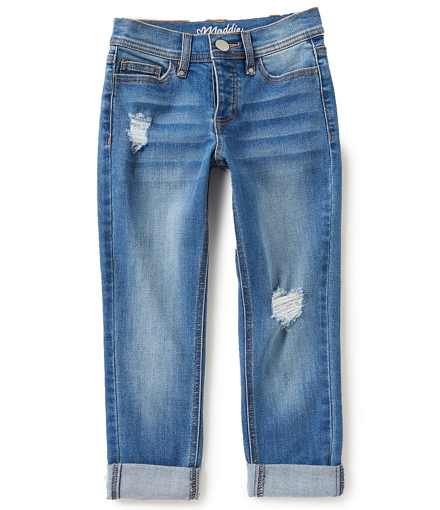 Maddie Big Girls 7-16 Distressed Boyfriend Jeans