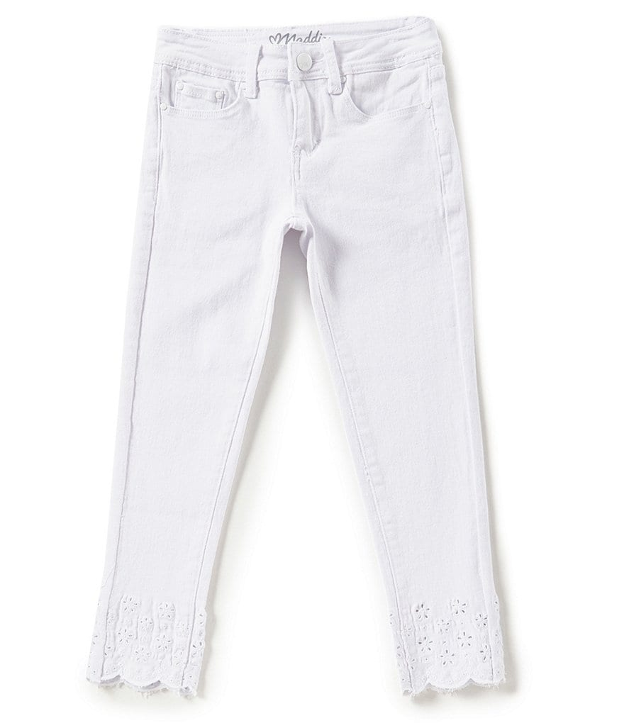 Maddie Big Girls 7-16 Laser-Cut Ankle Denim Jeans