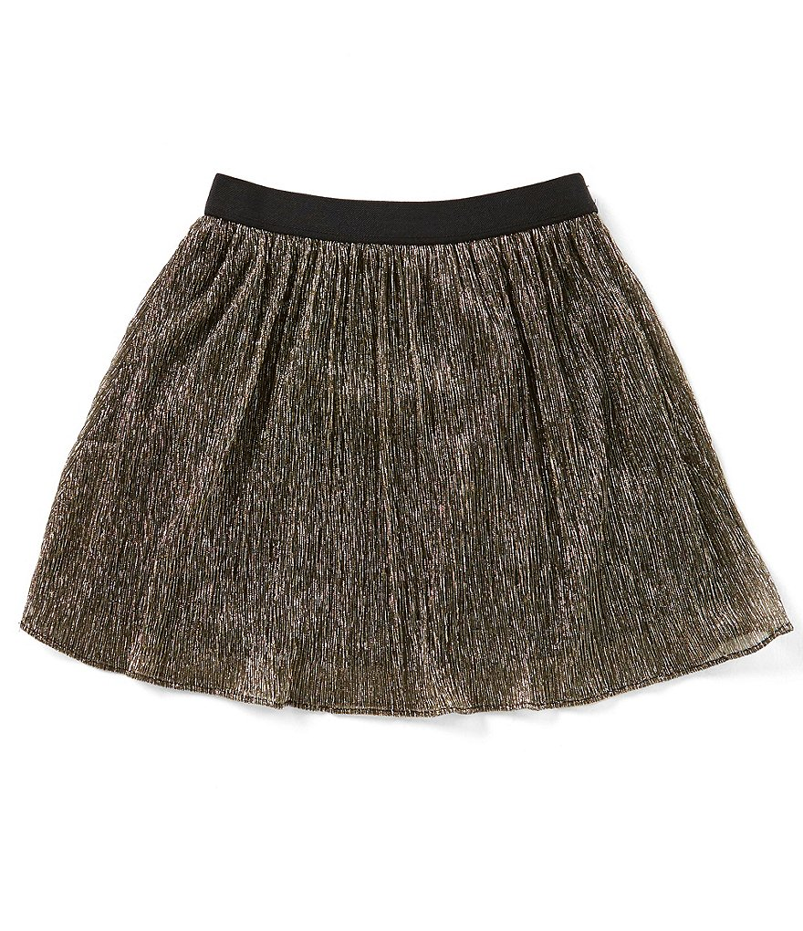 Maddie Big Girls 7-16 Pleated Metallic Skirt