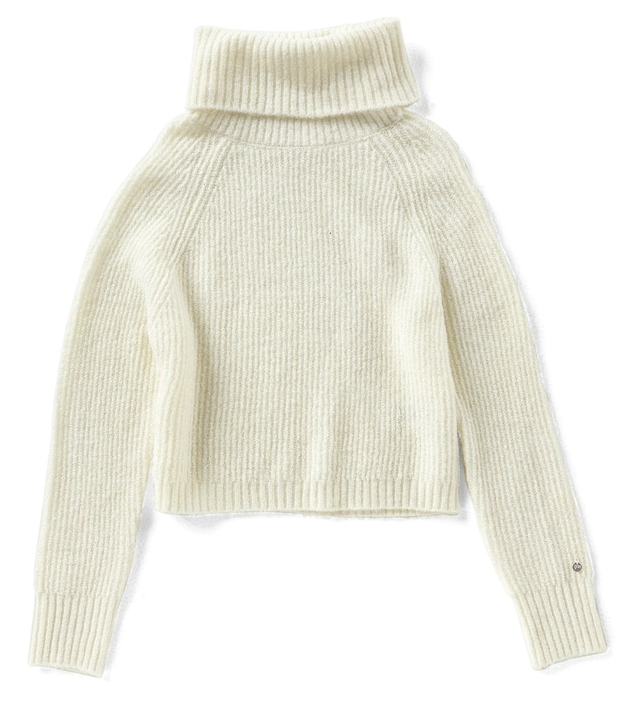 Maddie Big Girls 7-16 Rib-Knit Turtleneck Sweater | Dillards