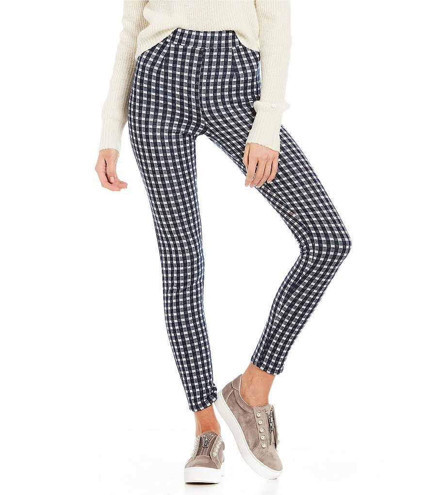 Maddie High-Rise Slim Fit Gingham Pants