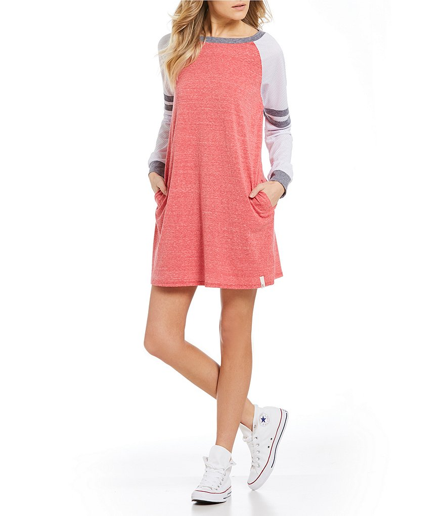 Maddie Mesh Long-Sleeve Jersey Dress