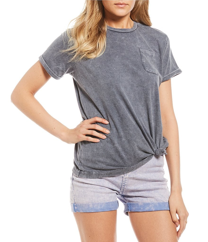 Maddie Short-Sleeve Knot Ready Tee