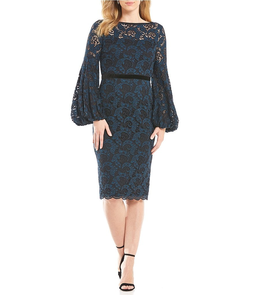 Maggy London Lace Balloon Sleeve Dress