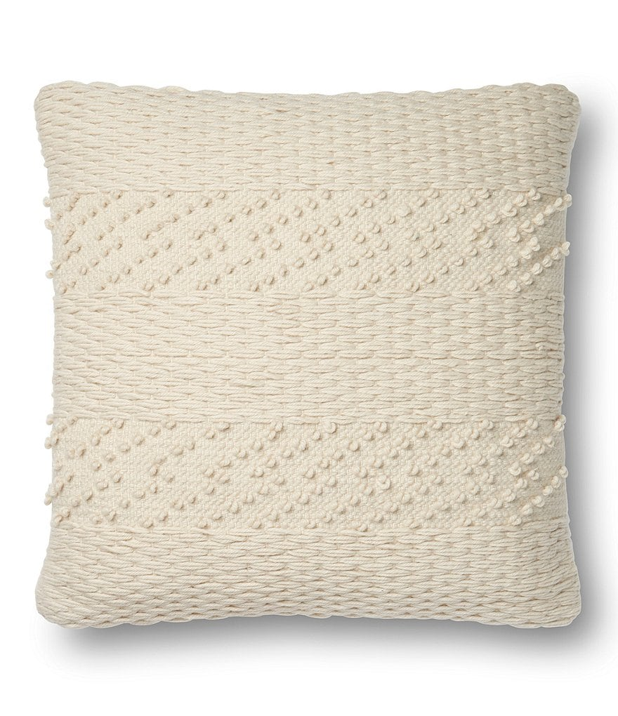 Magnolia Home by Joanna Gaines Renee Basketweave Square Feather Pillow