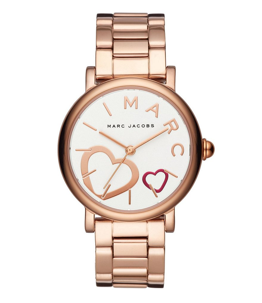 Marc Jacobs Classic Hearts Rose Gold-Tone Watch