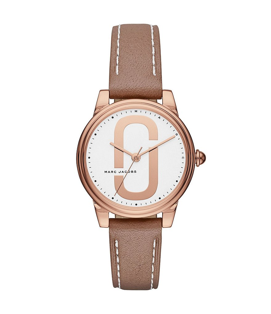 Marc Jacobs Corie Analog Leather-Strap Watch