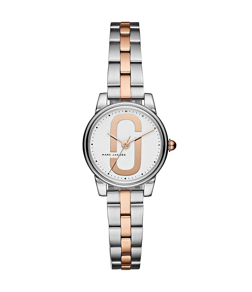 Marc Jacobs Corie Rose Gold Two-Tone Double-J Logo Analog Watch