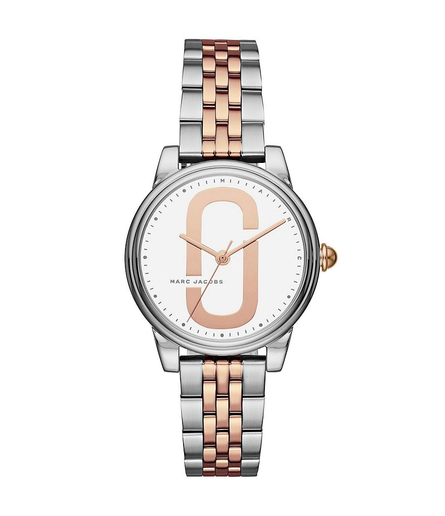 Marc Jacobs Corie Two-Tone Double-J Logo Analog Watch