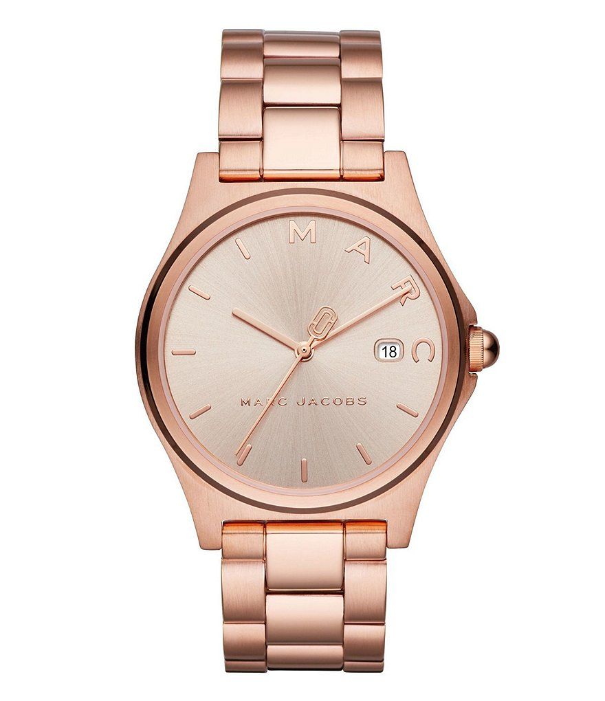 Marc Jacobs Henry Rose Gold-Tone Watch